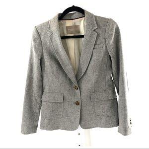 Banana Republic Hacking Jacket Gray Wool Blend 4P
